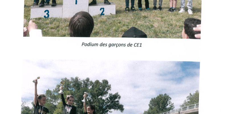 Les podiums des CE1