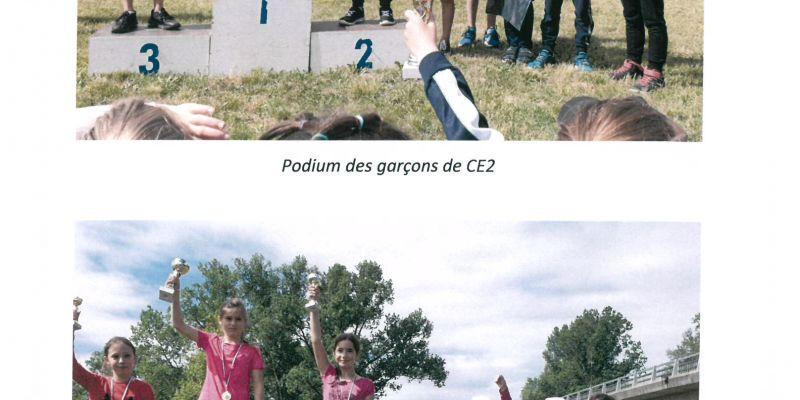 Les podiums des CE2