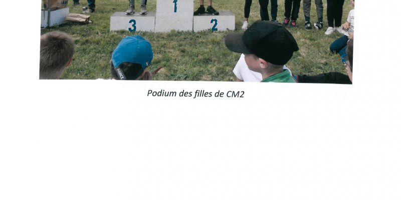 Les podiums des CM2 filles